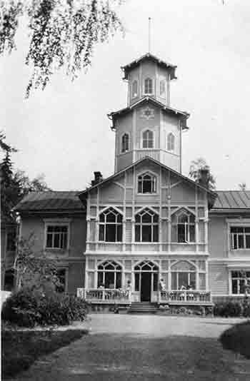 Sanomalehtimiesten lepokoti Tuusulan Syväranta v. 1925