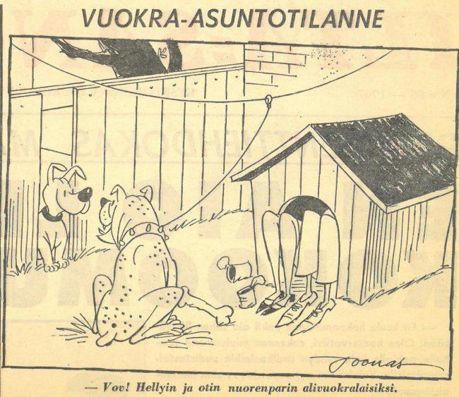 Joonaksen piirros Helsingin Sanomissa 3.5.1967.